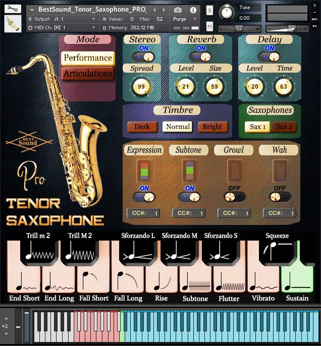 Tenor Saxophone Pro Kontakt sound library